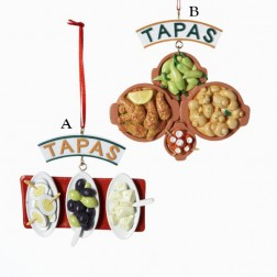 "2.75-3.5"" Resin ""Tapas"" Ornament"