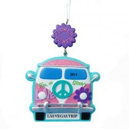 Hippie Van Christmas Ornament