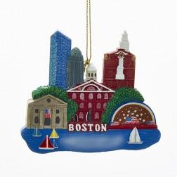 "Image of 3.25"" Resin Boston Scene Ornament"