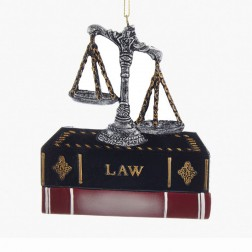 "Image of 4"" Resin Lawyer Personalized Christmas Ornament"