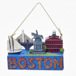 """Image of 2"""" """"Boston"""" Travel Destination Ornament"""