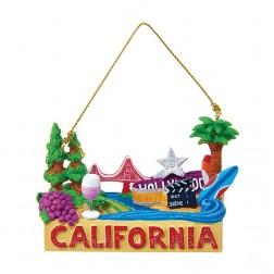 "2.75"" ""California"" Travel Destination Ornament"