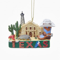 "2"" ""Texas"" Travel Destination Ornament"