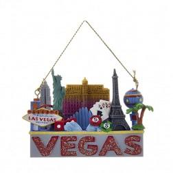 """2.75"""" """"Las Vegas"""" Travel Destination Ornament"""