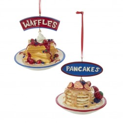 "Image of 2.75""Resin Waffles/Pancakes Orns"