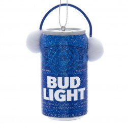 Image of Bud Light Can W/Ear Muffs Orn