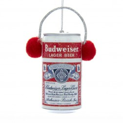 Image of Budwiser Can W/Ear Muffs Orn
