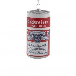 Image of Glass Budweiser Lager Beer Can Orn