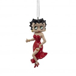 "Image of 3.75""Betty Boop Red Gwn Blw Mld Orn"