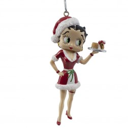 "Image of 4.5""Santa Betty W/Milk+Cookies Orn"