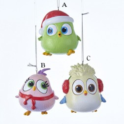 """3.25"""" Angry Birds™ Hatchlings Blow Mold Ornament"""