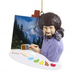 """Image of 3.5""""Bob Ross Painting Personlze Orn"""