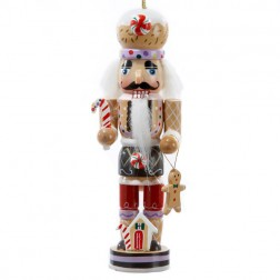 Image of Wooden Gingerbread Man Nutcracker Christmas Ornament