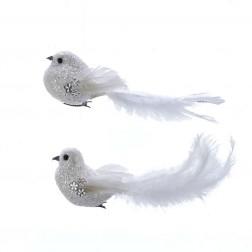 Image of White Bird W/Stone Clip 2/Asstd
