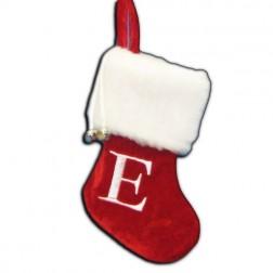 "Image of 7""Red/Wht Monogram ""E"" Mini Stockng"