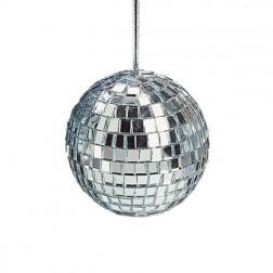 Image of Mirrored Glass Disco Ball Christmas Ornament