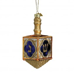 "Image of  4"" Jewish Dreidel Glass Ornament"