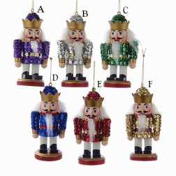 """Image of  4"""" Wooden Sequins Nutcrackers Ornament"""