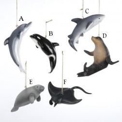 "4"" Resin Marine Animals Ornament"