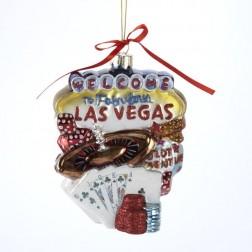 "5.5"" Glass Las Vegas Cityscape Ornament"
