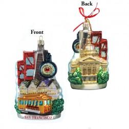 Image of San Francisco Cityscape Glass Ornament