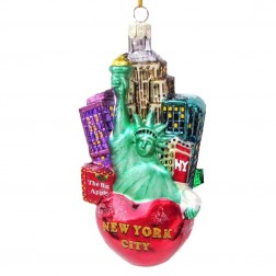Image of New York City Glass Cityscape Ornament