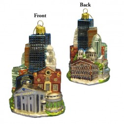 Image of Boston Cityscape Glass Ornament