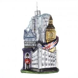"5"" Glass ""London City"" Ornament"