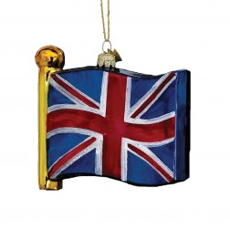 "4.5"" Glass Flag of United Kingdom Ornament"