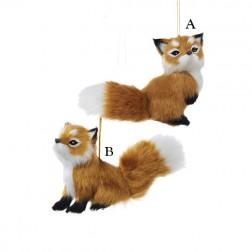 "4.5"" Plush Fox Ornament"