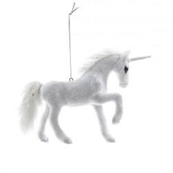 "4.5"" Plush Unicorn Ornament"