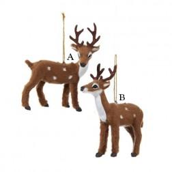 "4"" Plush Reindeer Ornament"