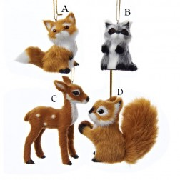 "2.4"" Plush Animal Ornament"