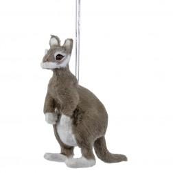 "Image of 4.5""Furry Plush Gray Kangaroo"