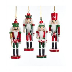 "Image of 6""Wdn Red/Grn/Wht Nutcracker Orn 4A"