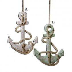 """4.75"""" Wooden Anchor Ornament"""