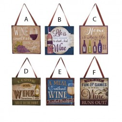 "4"" Textured Wine Plaque Ornaments"