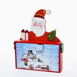"12"" Santa Advent Calendar Cabinet (No ornaments)"