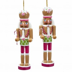 "Image of 6""Wdn Gingerbread Nutcracker Orn 2A"