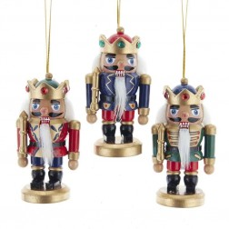 "Image of 4""Mini King Nutcracker Orn Set 3Pc"