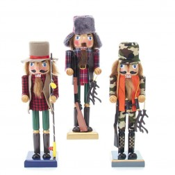 "Image of 10""Hunter/Fisherman Nutcrackers 3A"