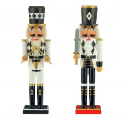"Image of 15""Blk/Wht/Gold Soldier Nutcrckr 2A"