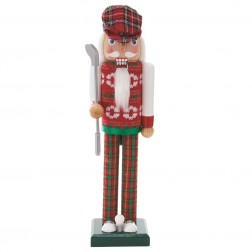 "Image of 15""Red/Green Golfer Nutcracker"