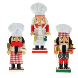 "Image of 9""Wooden Chef Nutcracker 3/Asstd"