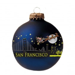 60mm San Francisco Santa Skyline Glass Ball