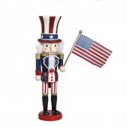 "Image of 15""Wooden Uncle Sam Nutcracker"