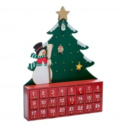 Image of Wdn Snwman W/Tree Advent Calendar