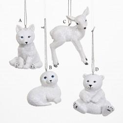 "2.75"" Winter Baby Animals Ornament"