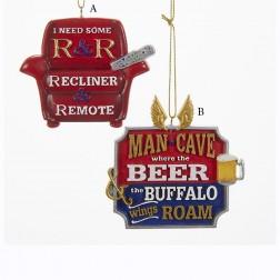 """3"""" Man Cave Recliner/Peer Plaque Ornament"""