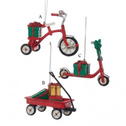 """3.5"""" Tricycle/Scooter/Wagon with Presents Ornament"""